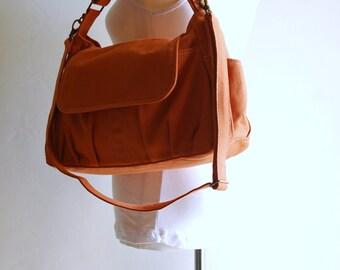 Mini Pico - Big SALE - Pumpkin, Kid Bag/ Messenger Bag/ Handbag / School Bag/Diaper Bag/ School Bag/ Women /For Her,  40% OFF