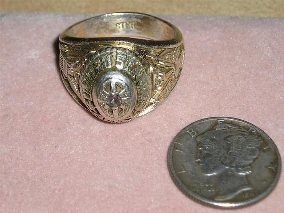 Vintage sterling silver us army rings