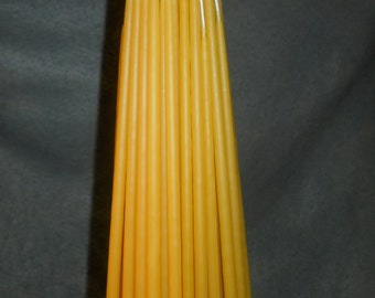"400 candles 12"" x 1/4""  Organic beeswax candles. Free Shipping"