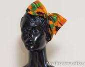 Headband wrap: Kente African Wax print Retro headband, Bow hair tie, Rockabilly, Vintage Inspired Head Scarf, women, teens