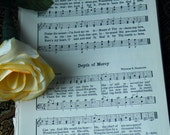 Vintage Hymnal Paper - Do It Yourself Paper Cone Wreaths 50 Pages