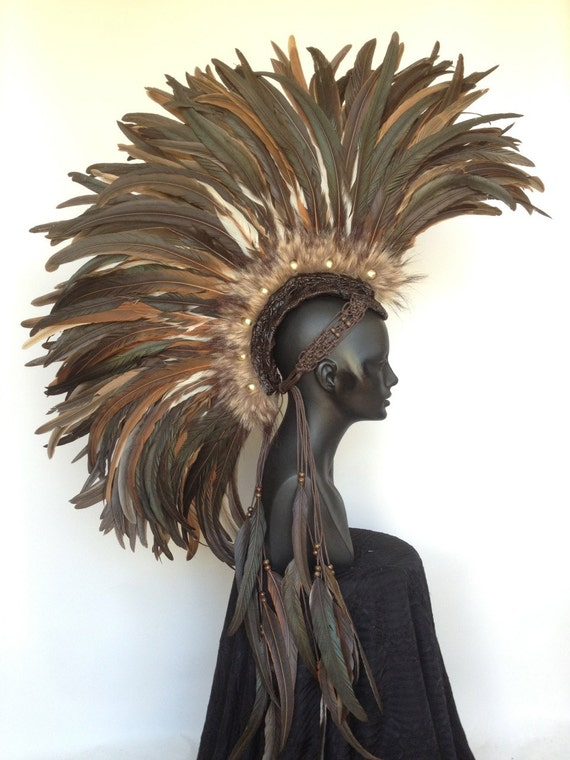 Made to Order Large Warrior Feather Mohawk