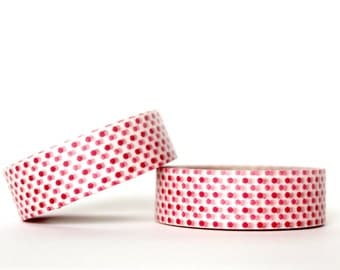 2 Tone Red Dots Washi Tape