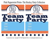 NEW INSTANT DOWNLOAD The Hockey Collection Printable Fill In Invitations
