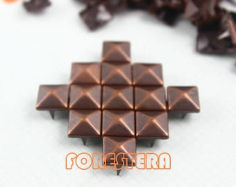 9mm Antique Copper Pyramid Stud Punk Rock Leathercraft Stud (CP09)