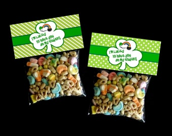INSTANT DOWNLOAD - Printable St. Patrick's Treat Bag Toppers  - Lucky You're My Student