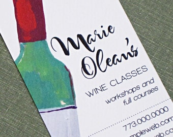 Personalized business card with Wine Bottle - Set of 50