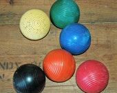 Bright  Bold Primary Colors Wooden Croquet Balls