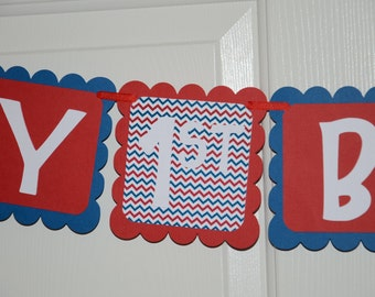 Baseball Banner, Birthday Party, Baseball Theme, 1st Birthday Banner, Baseball Theme