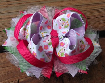 Owl Bow - newborn, baby, toddler, teen, adult, Spring, Summer