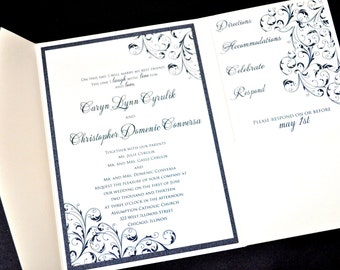 Pocketfold Wedding Invitations - Wedding Invitations - Pocket Wedding Invites