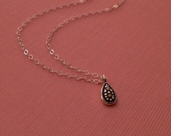 Marcasite Necklace in Sterling Silver -Silver Marcasite Necklace -Marcasite Jewelry