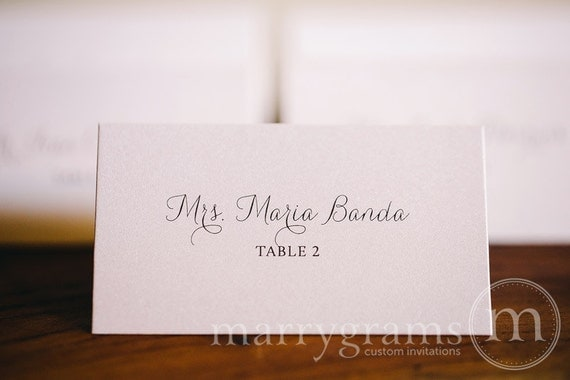 Fancy wedding place cards wedding escort cards affordable for Place card for wedding