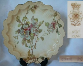 1890 Antique DOULTON BURSTEN Collectible Shelf Plate/Free Shipping