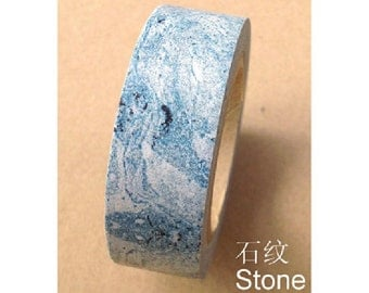 Stone Texture - Blue - Japanese Washi Masking Tape - 11 Yards