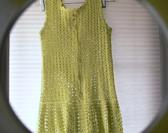lime green knitted blouse size small