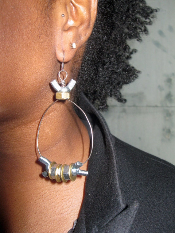 "Industrial Jewelry ""The Heavy Metal Hoop"" (Heavy Metal Collection Spring 2013)"