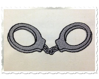 Mini Handcuffs Machine Embroidery Design - 2 Sizes