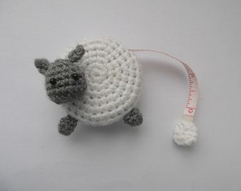 PATTERN ONLY - sheep tape measure cover pattern - PDF instructions