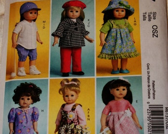 New McCall's 18' doll Clothes Pattern M6137