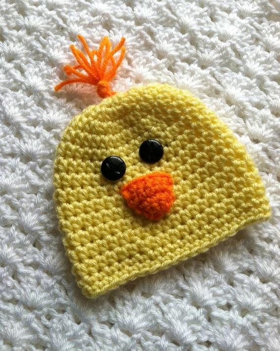 Crochet Yellow Chick Hat Crochet Baby Hat Newborn Hat Baby