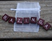 Big Bang Theory Inspired  Bracelet - Made From Scrabble Tiles (J-010)