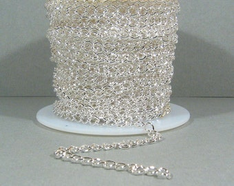 Small Curb Chain - Silver Plated - CH6 - Choose Your Length
