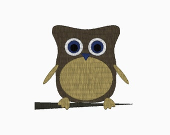 INSTANT DOWNLOAD Camping owl embroidery design