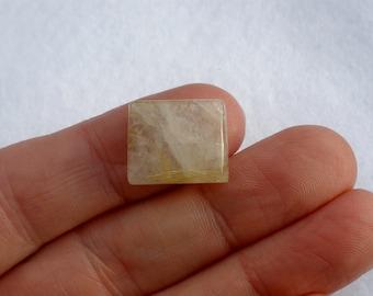 Golden Rutilated Quartz Rectangle Gem 18 x 15mm