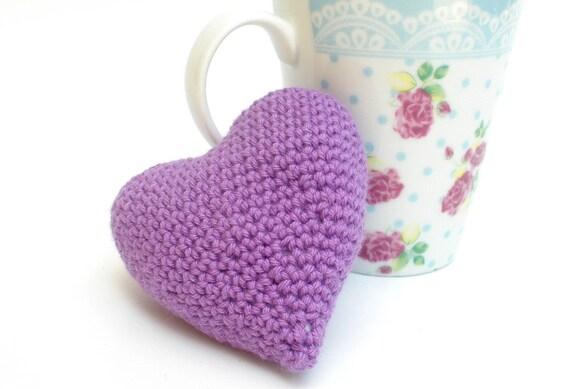 Plush Heart Knitting Pattern : DIY Plush Heart Plushie PDF Tutorial Hand Knit Heart