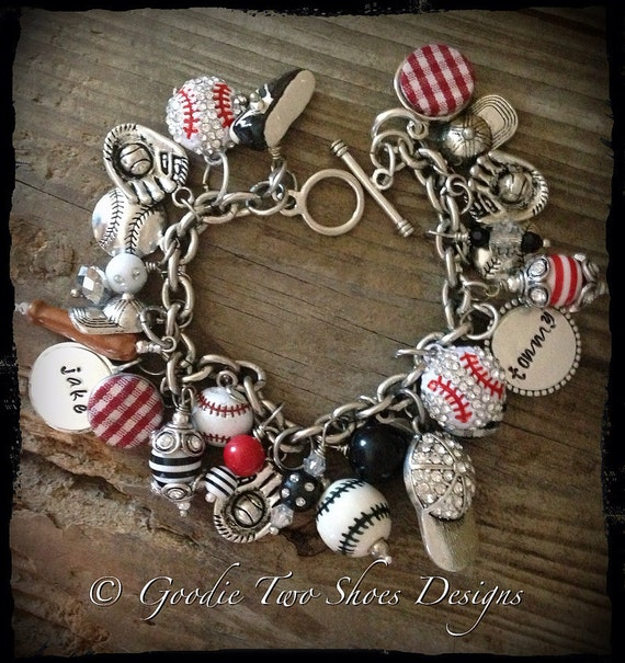 Baseball Charm Bracelet: Unavailable Listing On Etsy