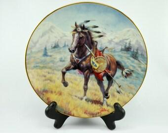 Windcatcher, A Cheyenne War Pony Plate by Gregory Perillo