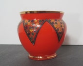 Vintage Bohemian Czech Bowl with hand painted design