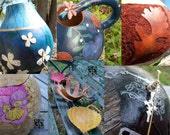 Handcrafted GOURD art - CUSTOM MADE for You (Size: Medium)