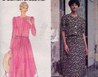 Simplicity 8973 Misses' Two-Piece Dress Pattern, UNCUT, Size 12-14-16, Damon Dress Inc.