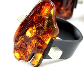 Baltic Amber Ring Christmas gift, Red amber ring, red amber bead, adjustable ring, red color ring, X mas gift,  anillo ámbar, 琥珀戒指,  琥珀色のリン