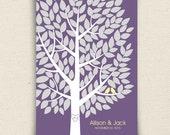 Wedding Guest Book Alternative - The Wishwik Tree - A Peachwik Interactive Art Print - 150 guest sign in