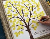 Wedding Guest Book Alternative - The Dreamwik - A Peachwik Interactive Art Print - 100 guest sign in - Chevron Pattern Wedding Dreams Tree