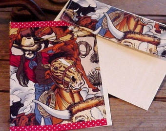Cowboy Greeting Card, Bull Roping Country Western Fabric Everyday All Occasion Blank Note Card itsyourcountry
