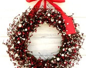 Valentines Wreath-Valentines Day Decor-Winter Wreaths-Holiday Wreaths- Home Decor-Scented Wreaths-Gift for Mom-Holiday Gift Guide-Gifts