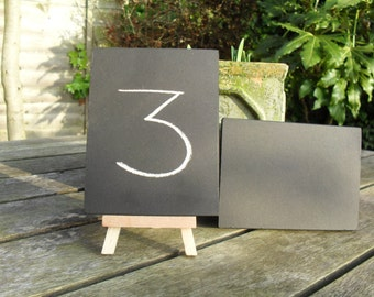 Mini Chalkboard Wedding Table Numbers - Easel Table Numbers - Chalkboard Table Numbers - Mini Chalkboard and Easels -