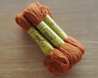 BMB Norwegian Tapestry Wool 6 Skeins Orange Color 280.