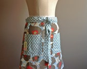 Betty women's half apron in Amy Butler's Morning Glory....SALE