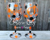 Baltimore Orioles Wine Glass qty 1 20 oz Baseball, Party,Birthday Wedding