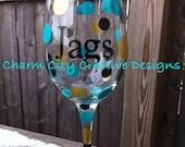 Jacksonville Jaguars Inspired Wine Glass 20oz