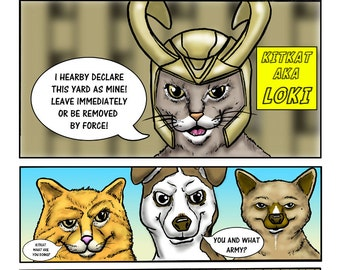 "Custom Comic Book - ""Pet Avengers"""