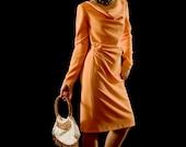 Dress Vintage Style Light Orange Size M