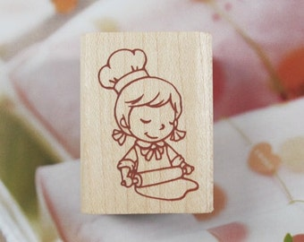 Happy Bakery B Rubber Stamp