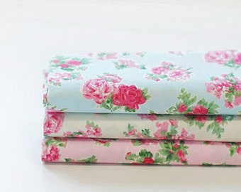 Floral Rose Pattern Fabric Pack 1/4 Yard (DL11)