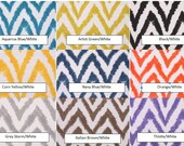 "TWO Curtain Panels 50"" Wide Diva Zig Zag Chevron  84"", 96"", 108"", 120"" NEW FABRICS Blue Green Yellow Orange Grey Thistle Brown Black Navy"